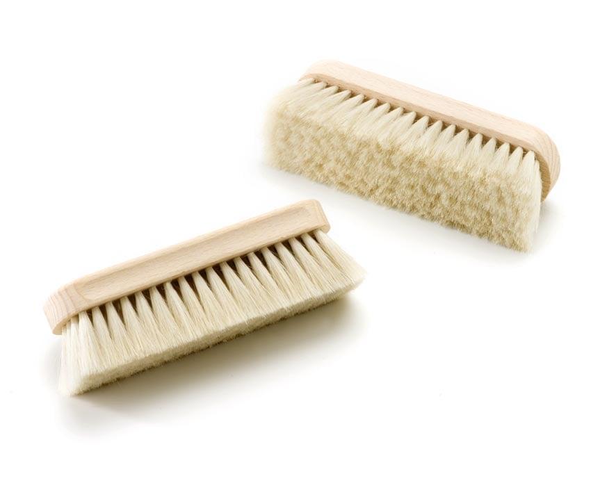 Goat hair shoe brush