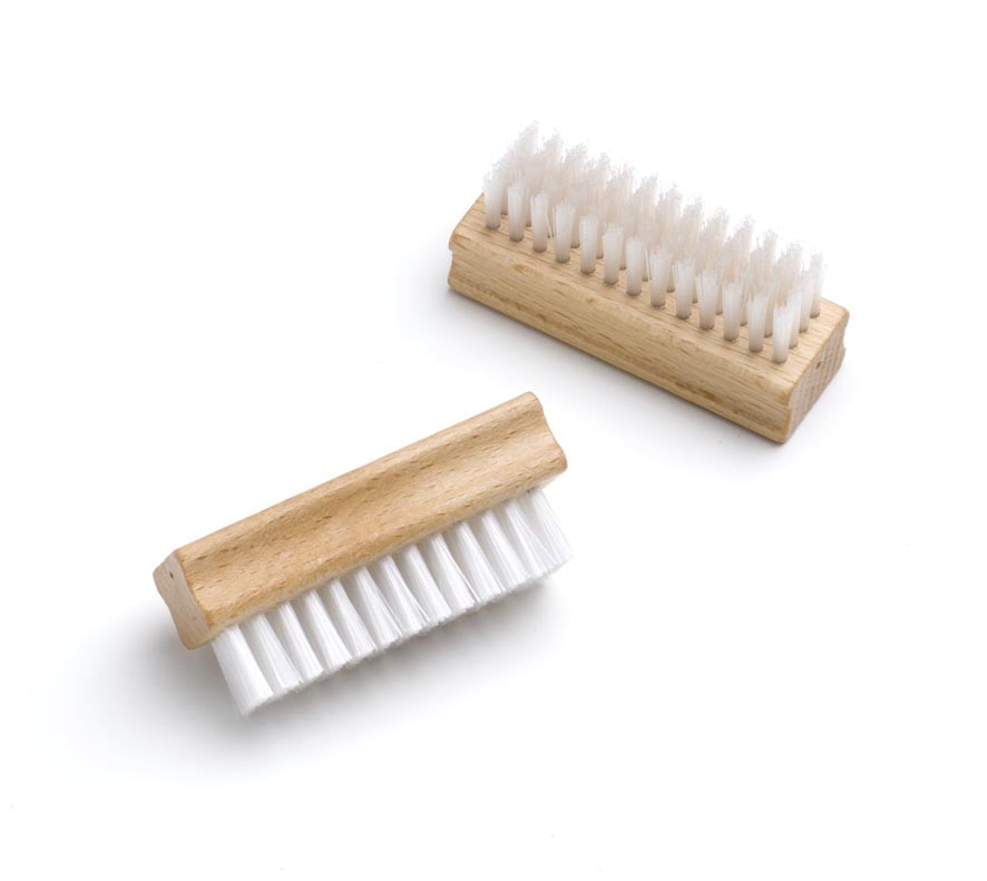Suede brush with synthetic bristles