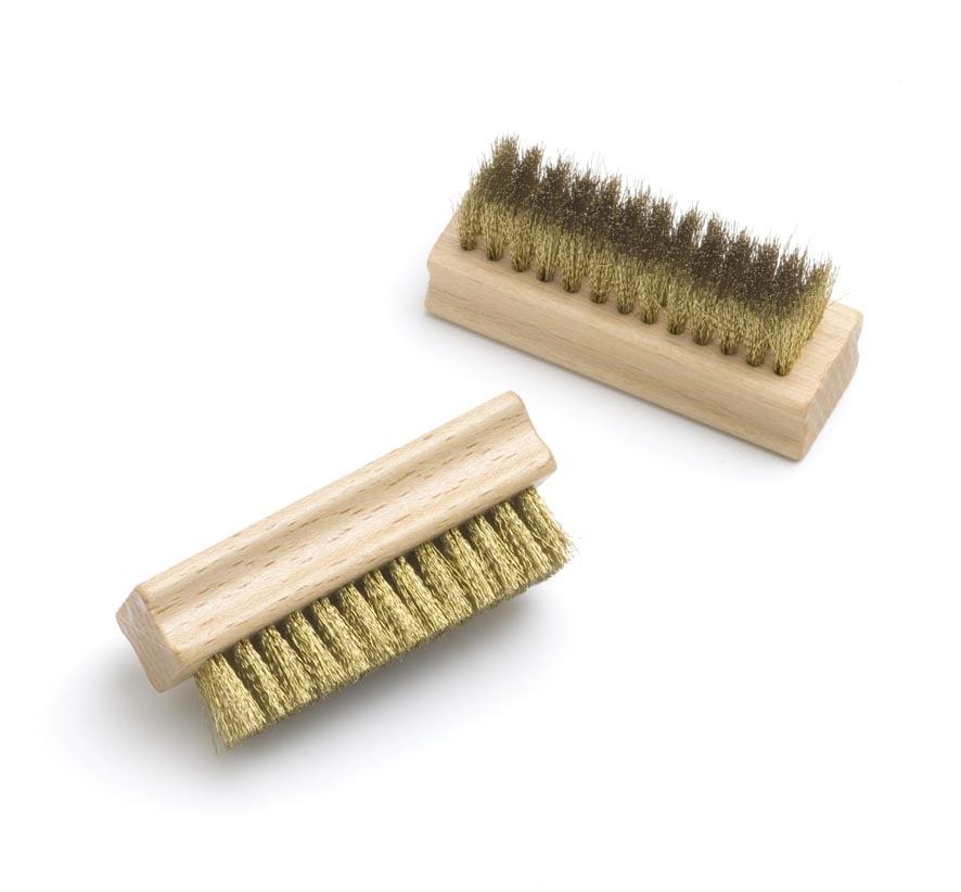 Suede brush with brass wire bristles