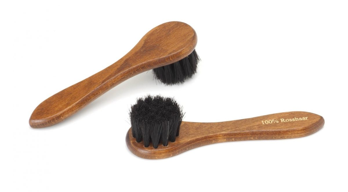 Rounded Horsehair Shoe Brush