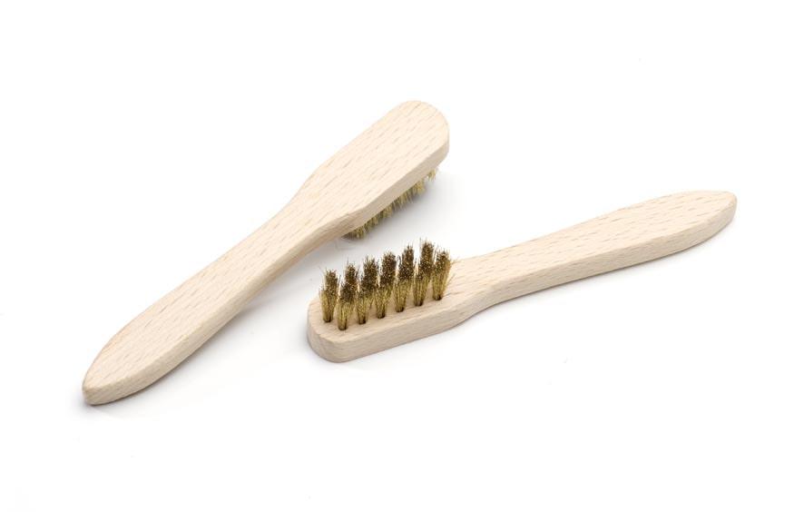 Suede brush brass wire